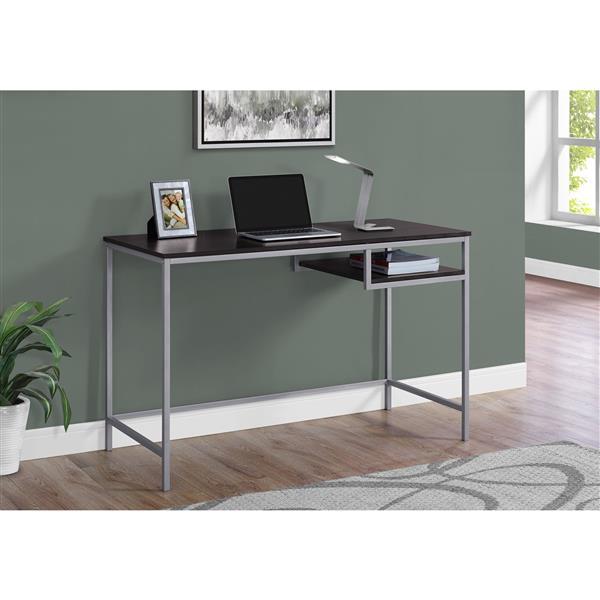 """Bureau d'ordinateur, 48"""", cappuccino"""