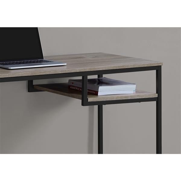Monarch  30-in x 48-in Dark Taupe Computer Desk