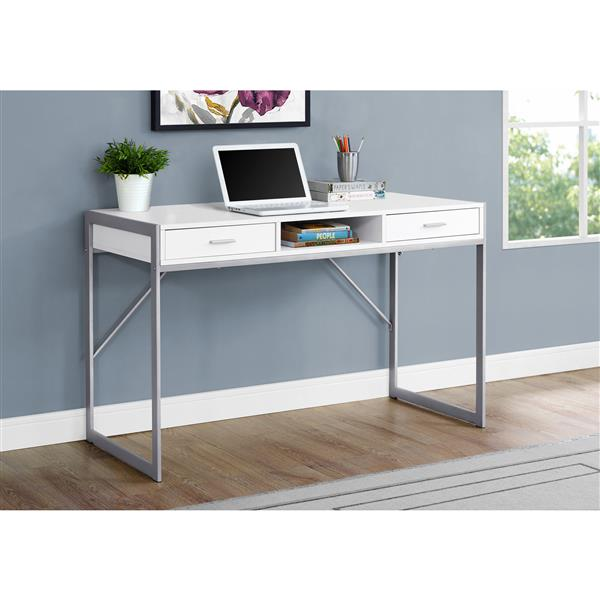 Monarch Specialties 30-in x 48-in White Computer Desk