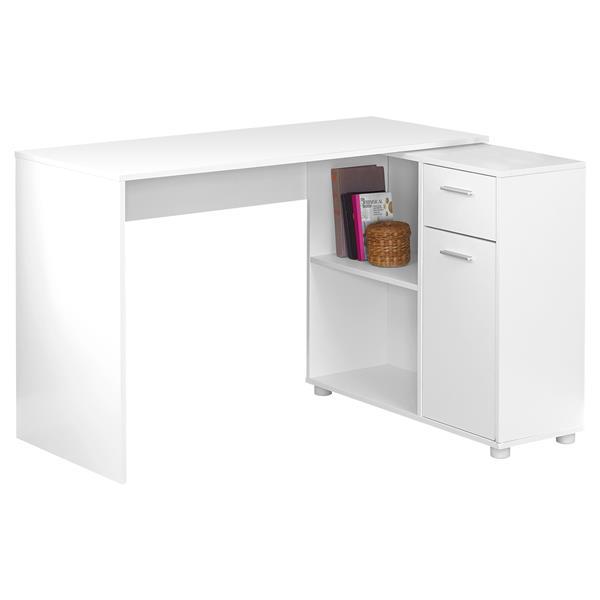 "Bureau d'ordinateur, 46"", blanc"