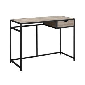 Monarch  30-in x 42.25-in Dark Taupe Computer Desk