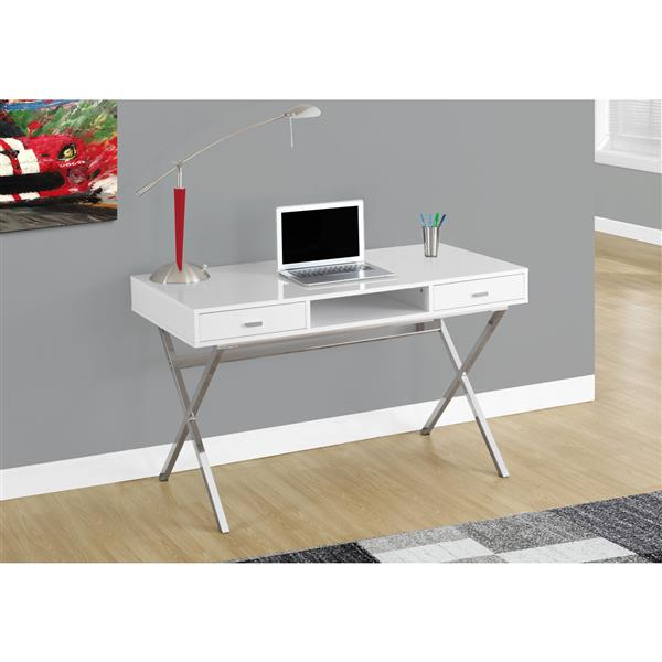 Monarch  29.25-in x 47.25-in White Computer Desk