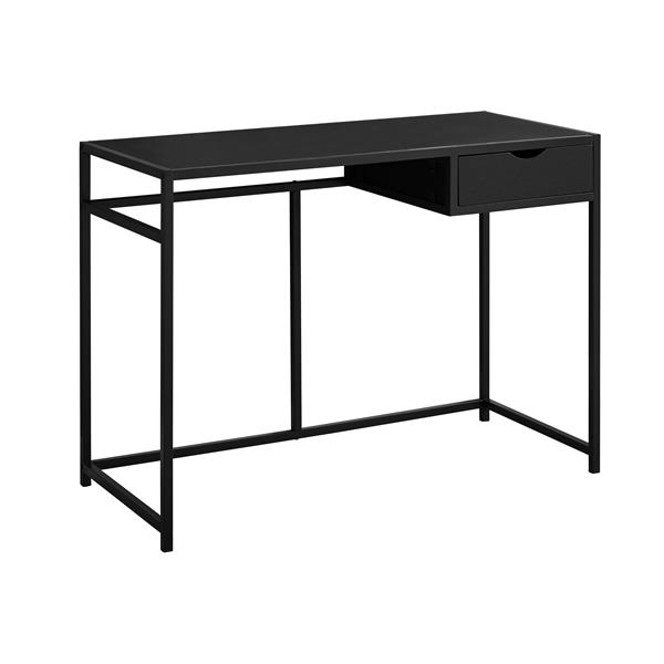 Monarch  30-in x 42.25-in Black Computer Desk