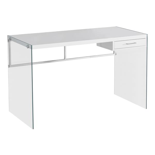 Monarch  30-in x 48-in White Computer Desk