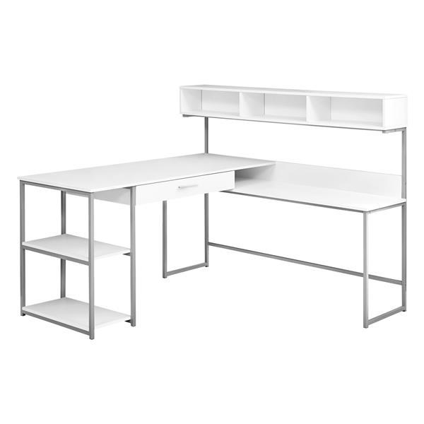 Monarch  47.25-in x 59-in White Computer Desk