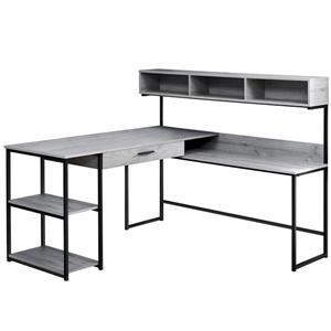 Bureau d'ordinateur, gris