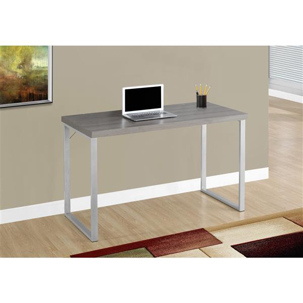 Monarch  30-in x 47.25-in Dark Taupe Computer Desk