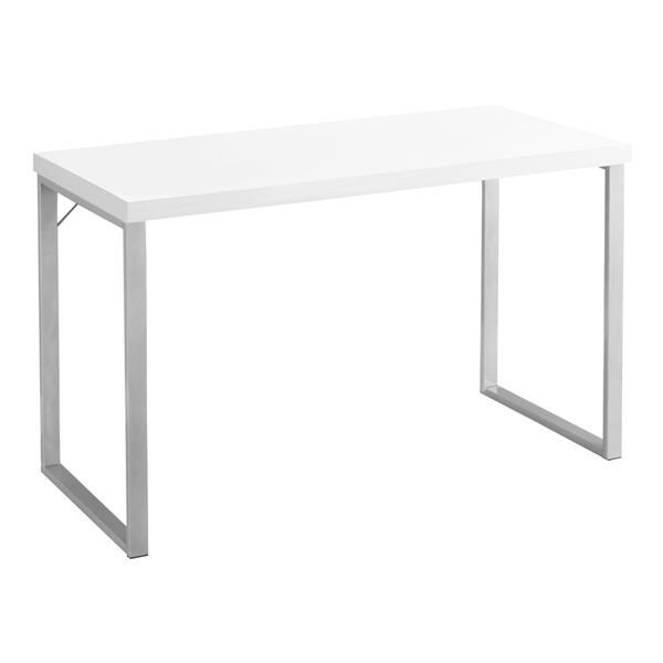 Monarch  30-in x 47.25-in White Computer Desk