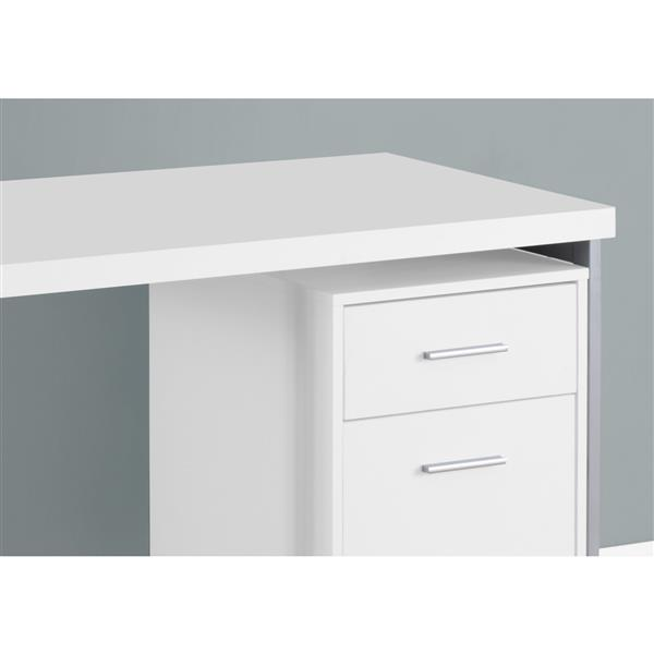 Monarch  30.75-in x 47.25-in White Computer Desk