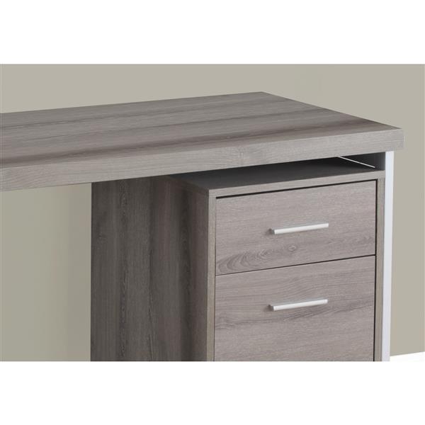Monarch  30.75-in x 47.25-in Dark Taupe Computer Desk
