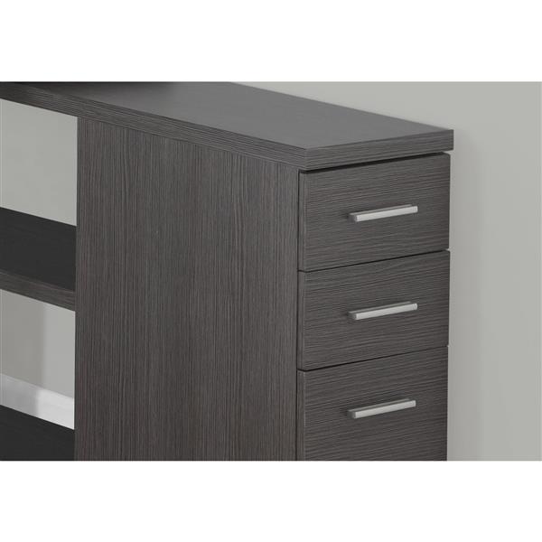 Monarch  29.50-in x 47.25-in Grey Computer Desk