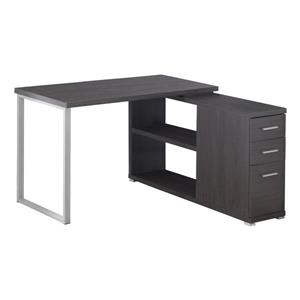 Monarch Specialties 29.50-in x 47.25-in Grey Computer Desk