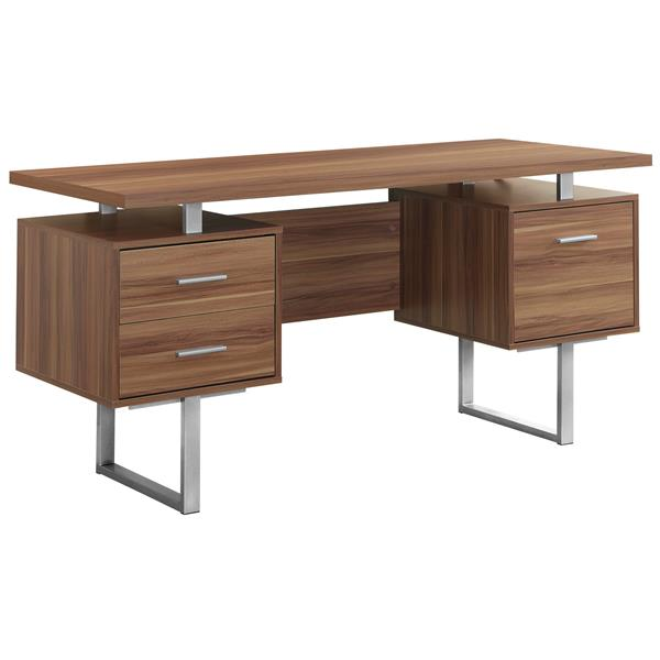 Monarch 30.25-in x 60-in Walnut Computer Desk0-in Walnut Computer Desk