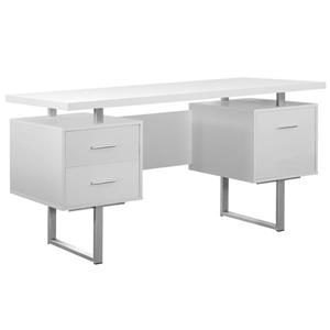 Monarch Specialties 30.25-in x 60-in White Computer Desk