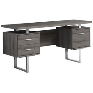 Monarch Specialties 30.25-in x 60-in Dark Taupe Computer Desk
