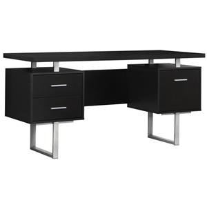 Monarch Specialties 30.25-in x 60-in Cappuccino Computer Desk