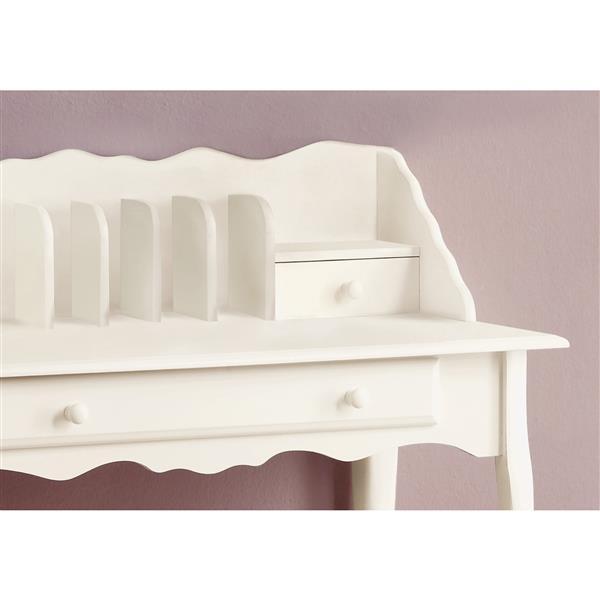 Monarch  36-in Antique White Secetary Desk