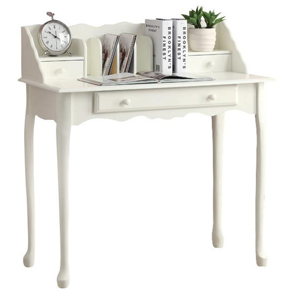 "Bureau , 36"", blanc antique"