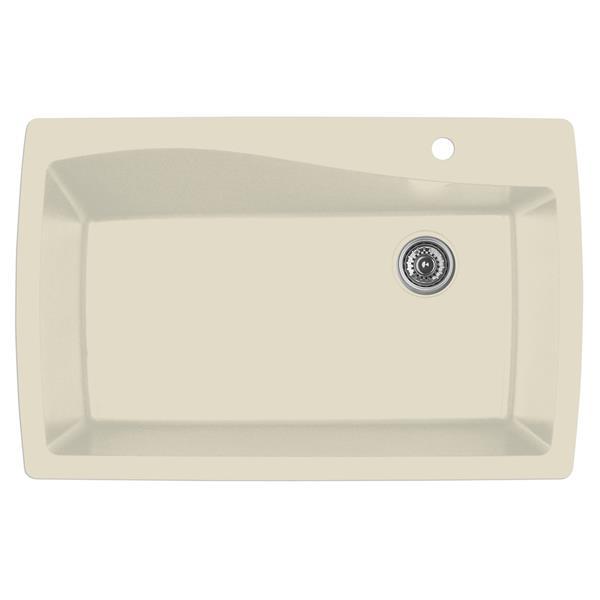 Decolav Karran 34-in Bisque Quartz Large Single Bowl Kitchen Sink