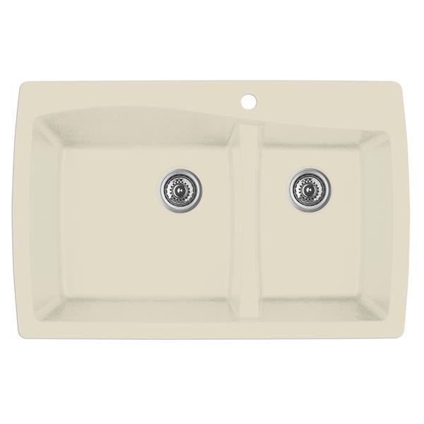 Karran 34-in Bisque Quartz 1.5 Kitchen Sink