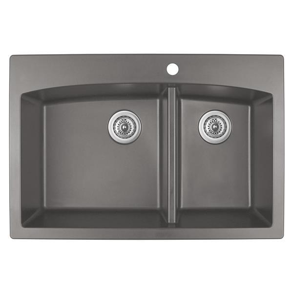 Karran 33-in Concrete Quartz 1.5 Kitchen Sink
