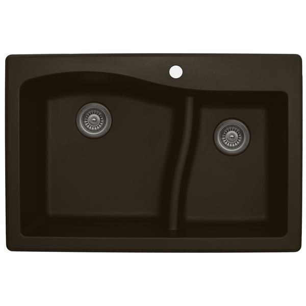 Karran 33-in Brown Quartz 1.5 Kitchen Sink