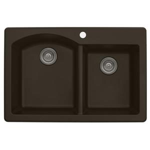 Karran 33-in Brown Quartz 1.5 Kitchen Sink