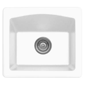 Decolav Karran 18-in White Quartz Bar and Prep Sink