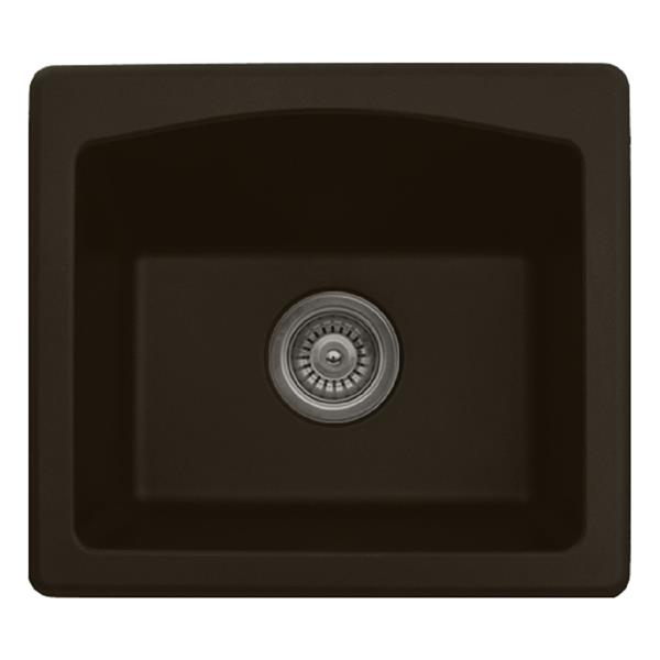 Karran 18-in Brown Quartz Bar and Prep Sink