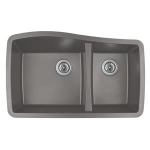 Karran 33.5-in Concrete Quartz 1.5 Kitchen Sink
