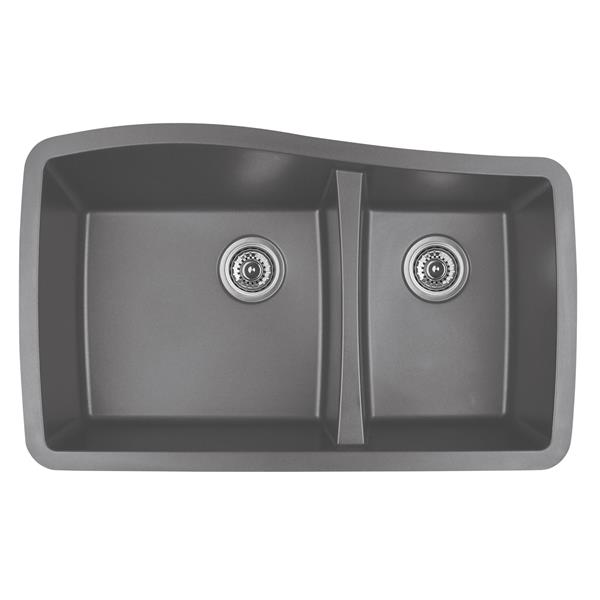 Decolav Karran 33.5-in Gray Quartz 1.5 Kitchen Sink