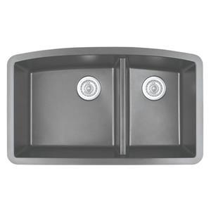 Karran 32.5-in Gray Quartz 1.5 Kitchen Sink