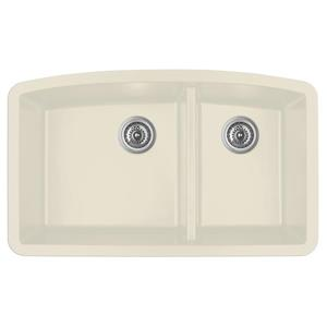 Karran 32.5-in Bisque Quartz 1.5 Kitchen Sink