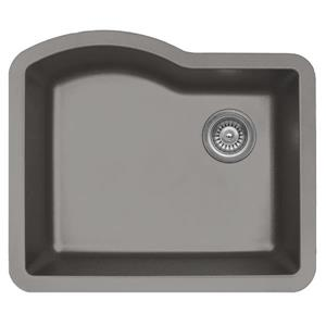Karran 24-in Concrete Quartz Undermount Single Bowl Kitchen Sink