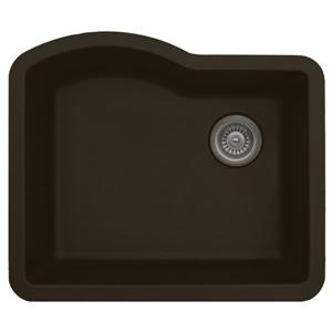 Karran 24-in Brown Quartz Undermount Single Bowl Kitchen Sink