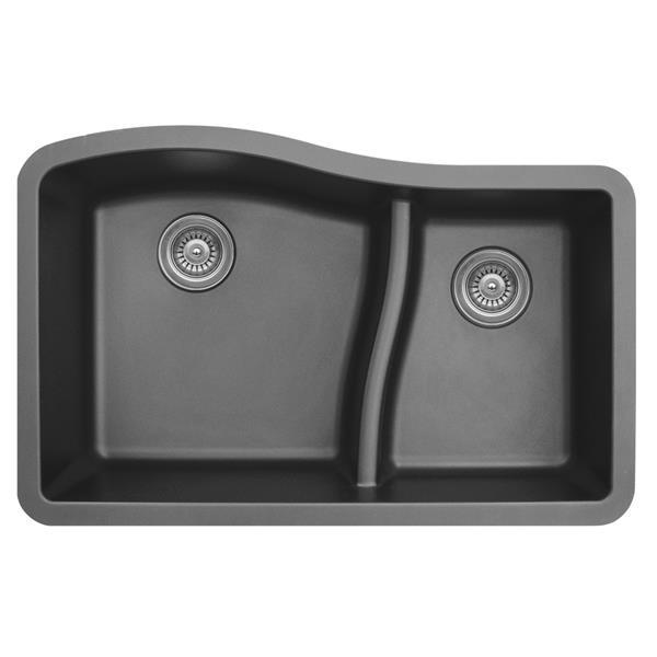 Karran 32-in Gray Quartz 1.5 Kitchen Sink