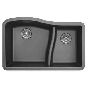 Decolav Karran 32-in Gray Quartz 1.5 Kitchen Sink