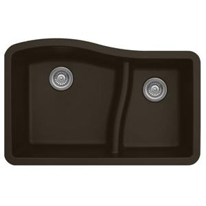 Decolav Karran 32-in Brown Quartz 1.5 Kitchen Sink