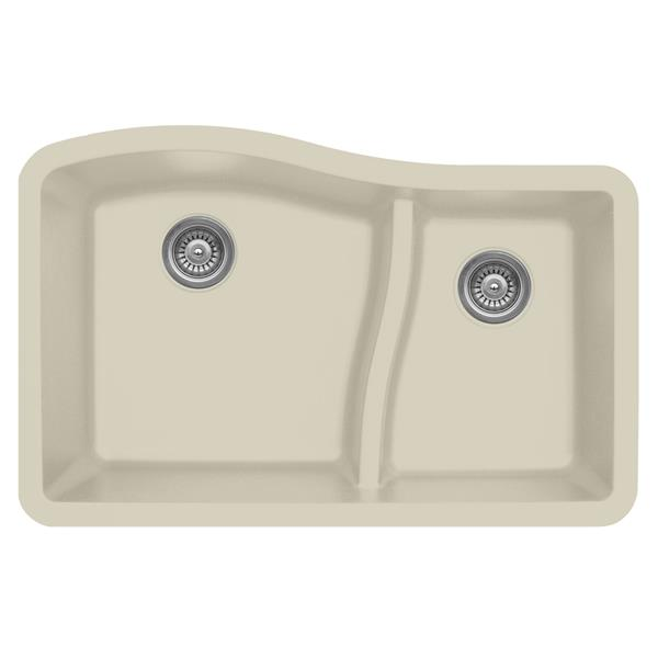 Karran 32-in Bisque Quartz 1.5 Kitchen Sink