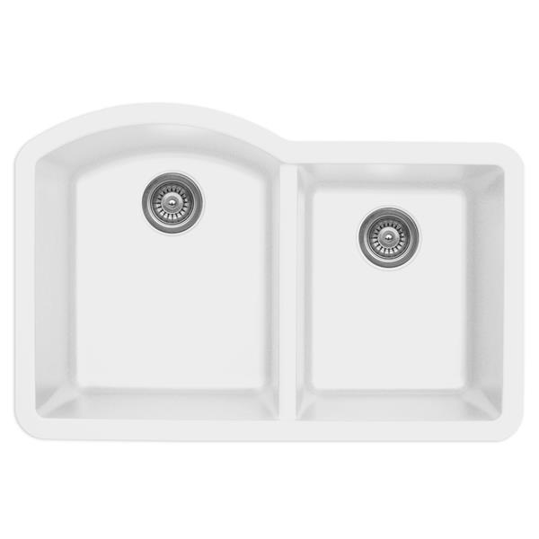 Karran 32-in White Quartz 1.5 Kitchen Sink