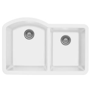 Karran 32-in White Quartz 1.5 Kitchen Sink
