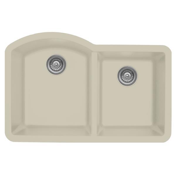 Karran 32-in Bisque Quartz 1.5 Kitchen Sink