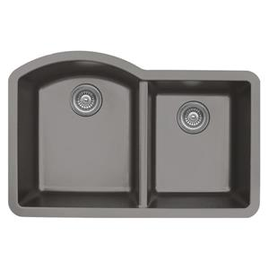 Karran 32-in Concrete Quartz 1.5 Kitchen Sink