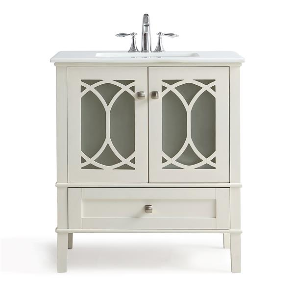 Simpli Home Paige 30-in Off-White Vanity with Sink