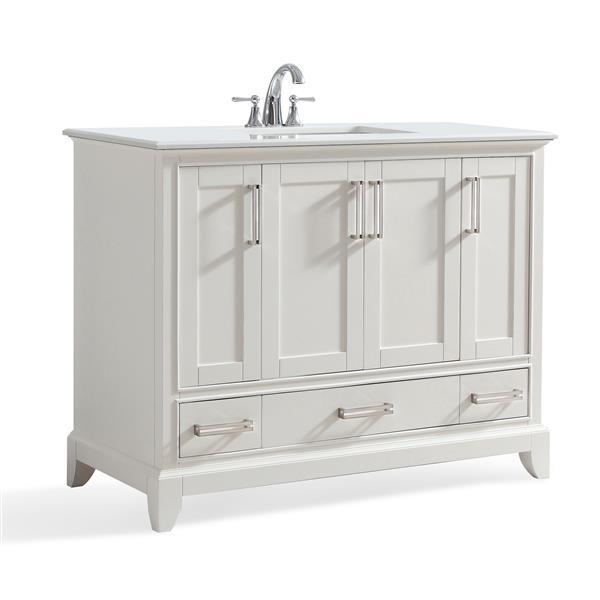 SIMPLI HOME Elise 42 In Off White Bathroom Vanity With ...