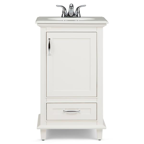 Simpli Home Ariana 20-in Off White With Sink Quartz Marble Bombay Vanity