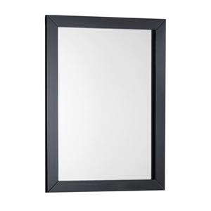 "Miroir pour salle de bain Winston, 22"" x 30"", noir"