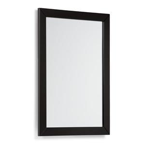 Simpli Home Chelsea 22-in x 30-in Black Bathroom Mirror