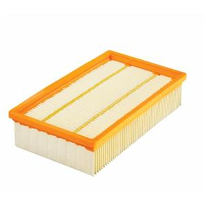 Filtre en papier plat à plis