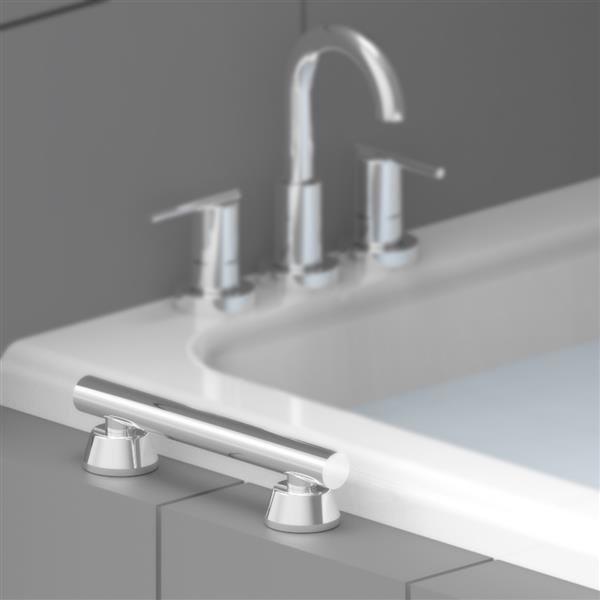 Invisia Collection 24-in Brushed Stainless Linear Bar